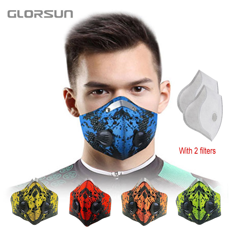 GLORSUN Mouth Face Mask Dustproof Anti Pollution Smog Masks Custom Neoprene N99 Filter Dust Pm2.5 Bike Cycling Half Face Mask