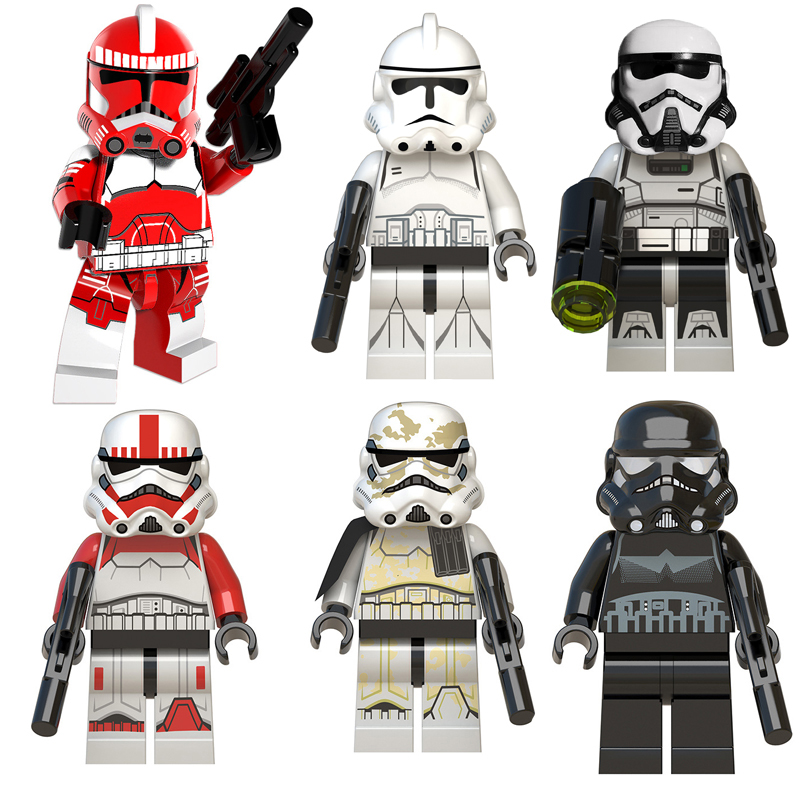 Star Soldiers Wars Blocks Toy Legoing Starwarss Figures Stormtrooper Collections Building Blocks Bricks Toys For Children Gift