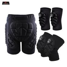 WOSAWE Padded Motorcycle Pants Outdoor Sports Skiing Shorts Hip Pad Protector Armor Ski Snowboard Skate Pants Motor Shorts