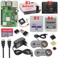 Kit de juegos Raspberry Pi 3 Modelo B Plus + fuente de alimentación + tarjeta SD de 32G + Cable HDMI + disipador de calor + carcasa retrofag nesppara Retropie 3B Plus