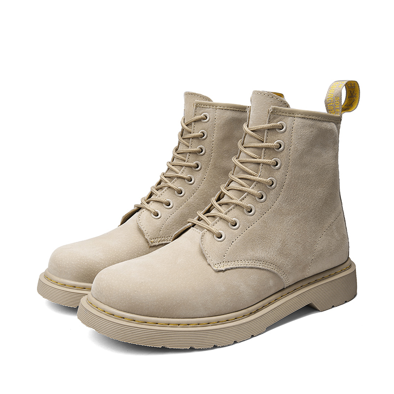 Men High Top Soft Ankle Boots Winter / Autumn Men's Motorcycle Boots Men Dress Business Work Safety Oxfords Couple Shoes