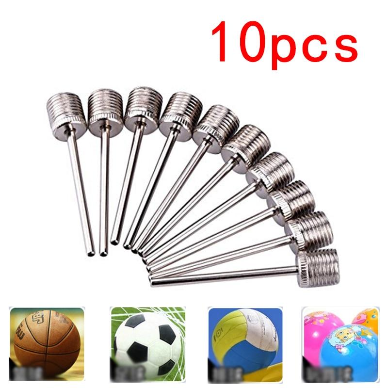 10pcs Sports Balls Standard Inflating Kit Ball Air Pump Needles For Basketballs Volleyballs Footballs Stainless Steel Pump Pin