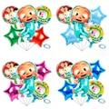 CoComelon детский день рождения украшение: воздушный шар с принтом «арбуз» шар с алюминиевой пленкой комплект вечерние воздушные шары