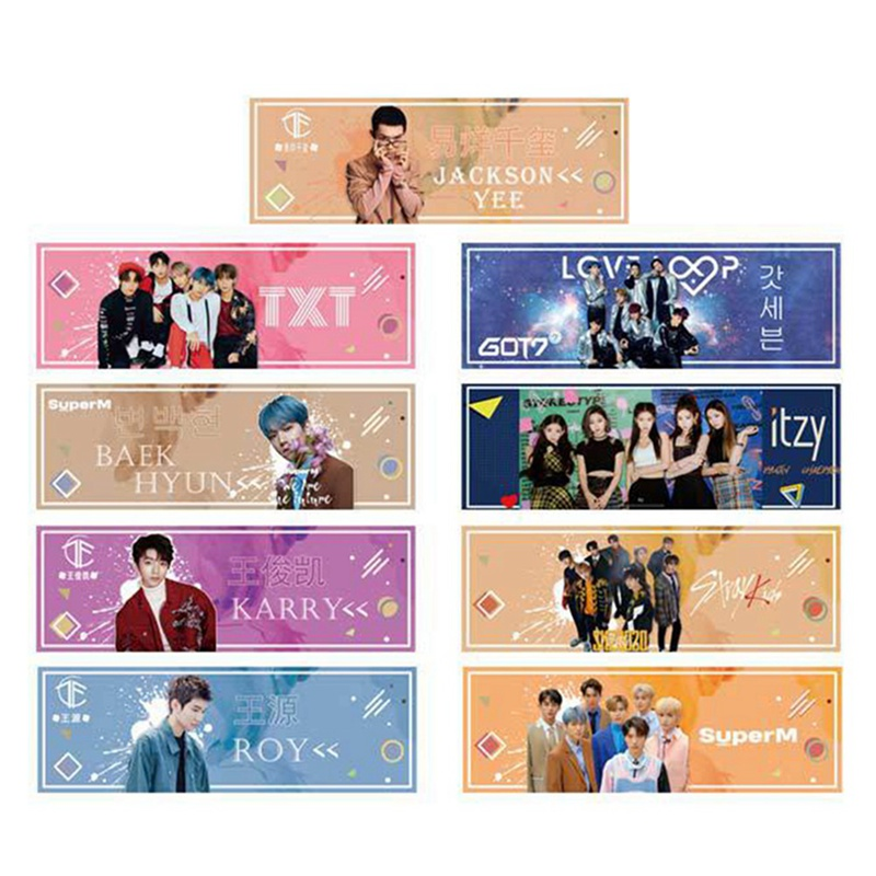 1 Piece Kpop GOT7 ITZY STRAYKIDS SUPERM TXT Concert Support Hand Banner Fabric Hang Up Poster For Fans Collection Gift