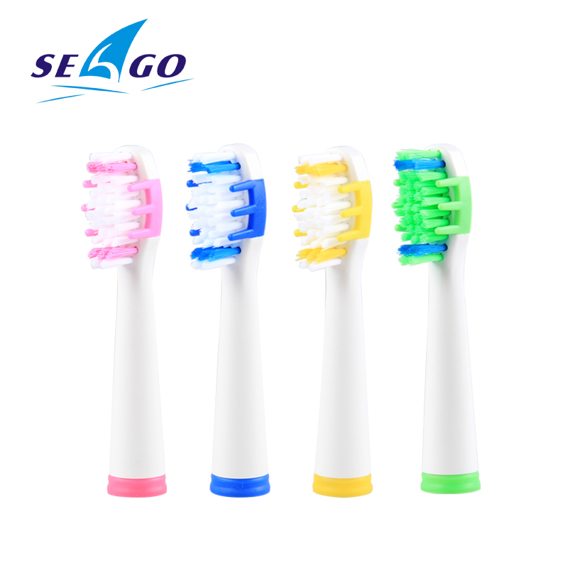 SEAGO SG551/575/503/507/515/548/958 Electric Toothbrush Heads Tooth Brush Replacement Brush Head 4PC Fit Health/Precision Cl