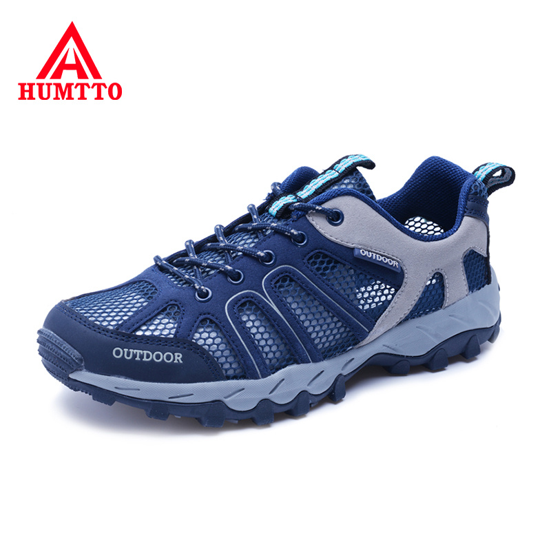 HUMTTO Summer Breathable Hiking Shoes Outdoor Male Sneakers Wear-resistant Mens Sport Climbing Trekking Men Shoes Big Size 35-46