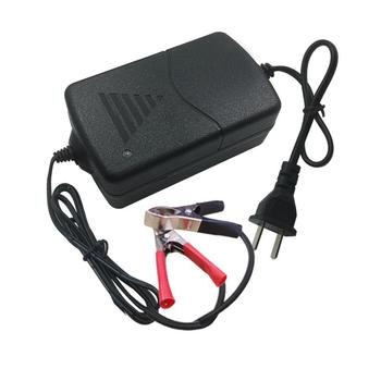 New 12V 1A Universal Portable Car Truck Motorcycle Alligators Clip Battery Charger image