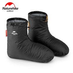 Naturehike Goose Down pokrowce na buty śpiące akcesoria do toreb 80g Camping Indoor Unisex Winter Warm Feet Cover wodoodporna wiatroodporna