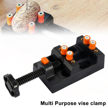 Miniature Hobby Clamp On Table Bench Vise Tool Vice Muliti-Funcational Carving Drill Press Flat