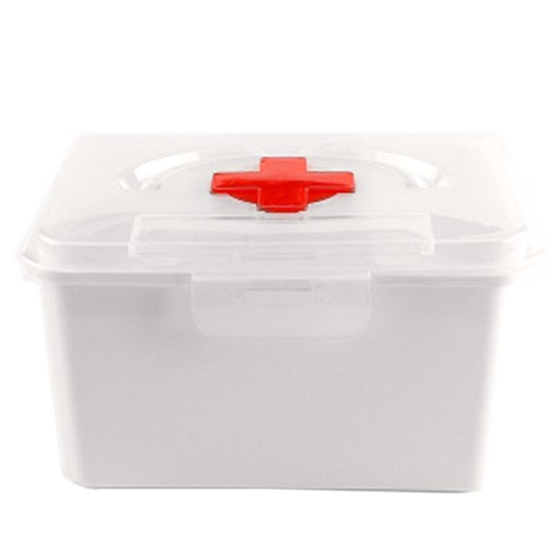 Medicine Box Household Medicine Box Drug Storage Box Child Family Size Size Portable Outpatient Medicine Box