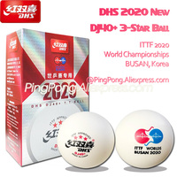 New 2020 BUSAN DHS DJ40+ 3-Star Table Tennis Ball ITTF 2020 BUSAN WORLD Championships Plastic ABS DHS 3 Star Ping Pong Balls