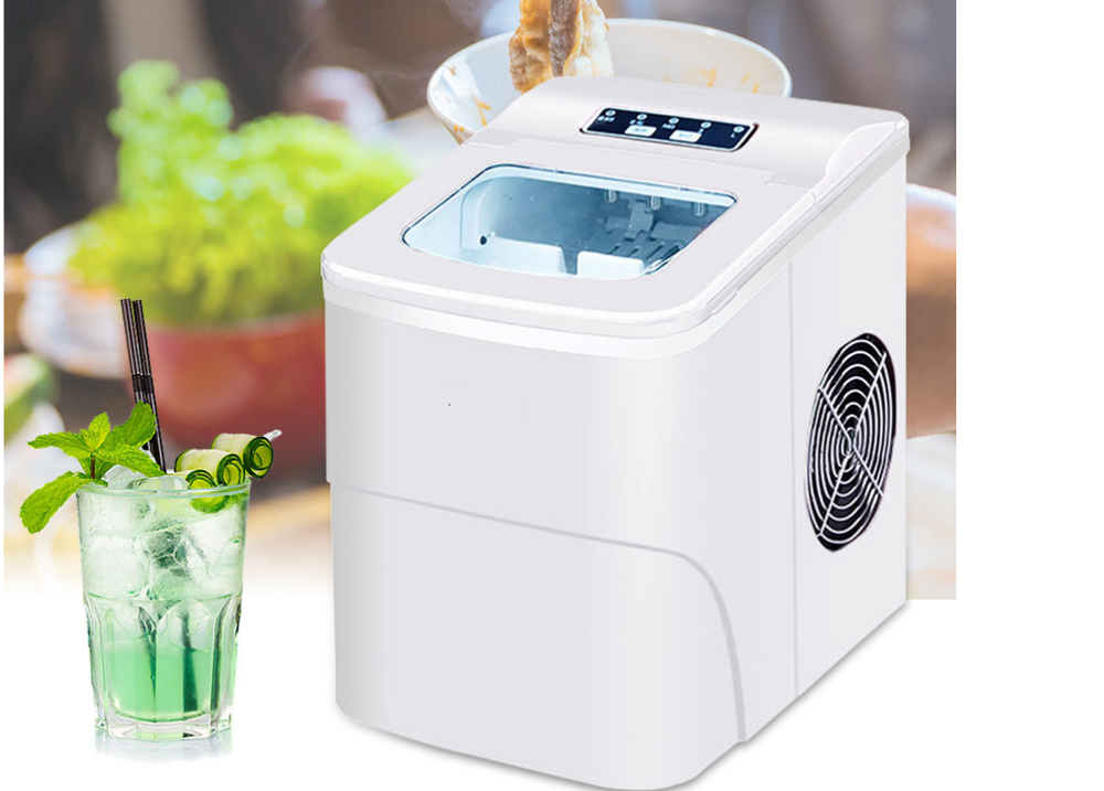 15KG Commercial/Household Ice Maker Milk Tea Shop/Cafe/Cold Drink Shop Ice Cube Machine Fully Automatic Round Ice Cube Make 220V