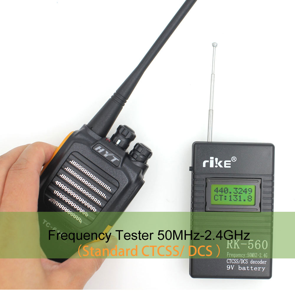 50MHz-2.4GHz Frequency Counter Portable Handheld RK560 DCS CTCSS Radio Tester RK-560 Frequency Meter
