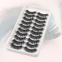 Extensiones de pestañas postizas para mujer, 10 pares de extensiones de maquillaje de fibra Universal, elegante, gran oferta, 50%