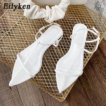 Eilyken Summer Vacation Beach Casual Flats Woman Shoe Fashion Pointed Toe Cross