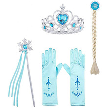 4 5Pcs/lot Toddlers Princess Dress Up Costume Photo Props Jewelry Accessories Crown Magic Stick Birthday Gifts Toys for Girls