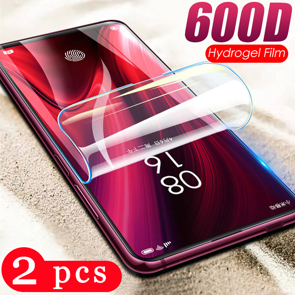 2Pcs for xiaomi <font><b>redmi</b></font> K30 K20 pro <font><b>hydrogel</b></font> film <font><b>redmi</b></font> note <font><b>8</b></font> 8A 8T phone screen protector protective film Not Glass smartphone image