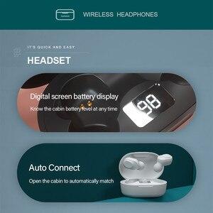 Image 2 - Lenovo – écouteurs sans fil Bluetooth à commande tactile, oreillettes de jeu, de Sport, de réduction du bruit, LED, étanches, XT91
