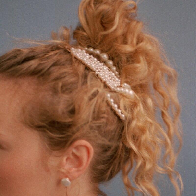 2019 Fashion Women ZA Hair Pins Gold Tone Wedding Jewelry Barrettes Set Simulated Pearl Clip Wholesale Bobby