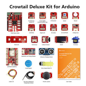 Elecrow Updated Crowtail Deluxe Kit for Arduino DIY Programable Education Learning Kit With 20 Projects for Educational Gifts