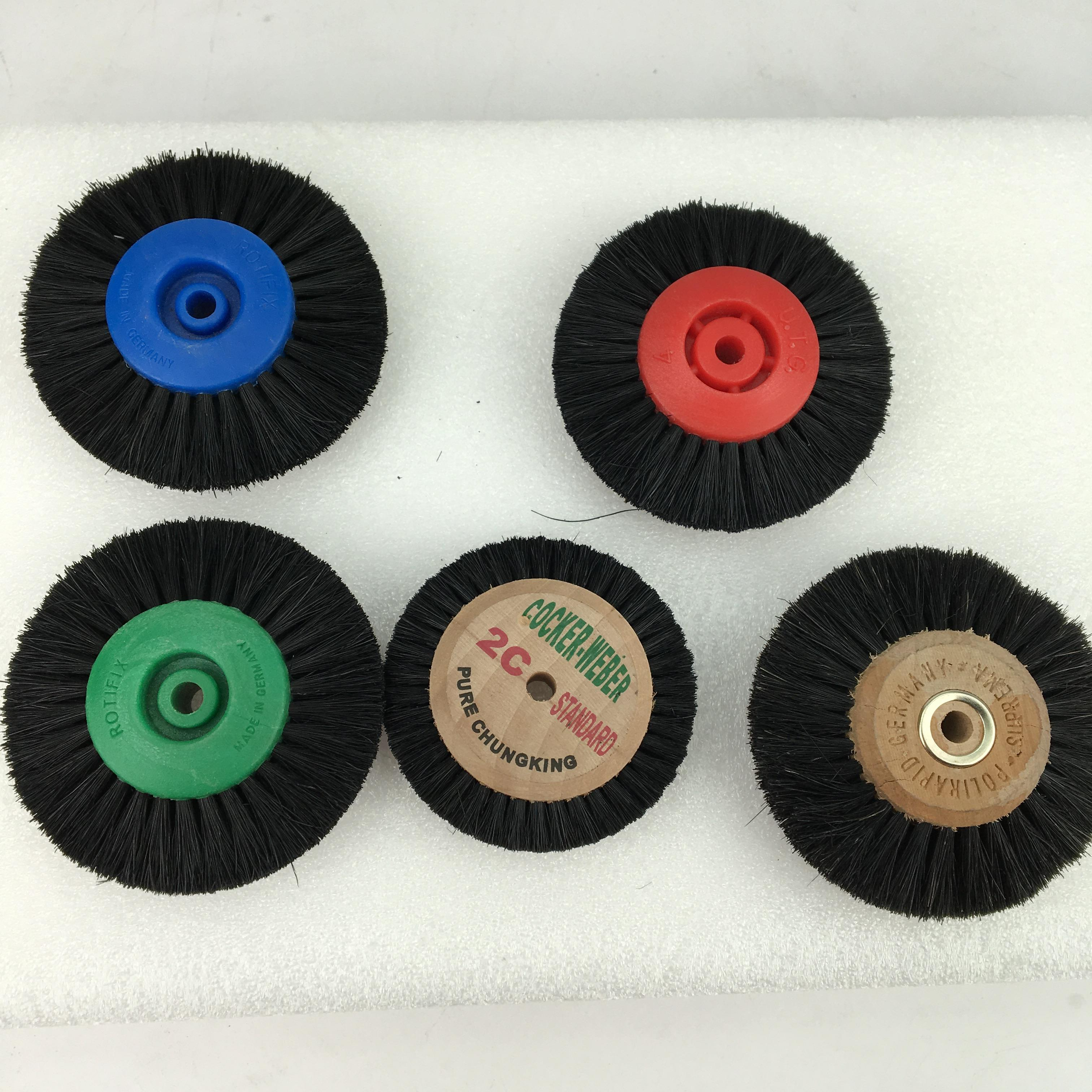 2C/4C  Wood Polishing Brush Polishing Wheel Buffing Wheel Dental Rotary Bristle For Dental Tooth Alloy Jewelry Polishing Cleanin
