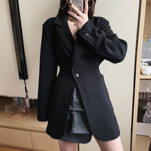 Spring Garment New Handsome Turn-collar Suit Women Slim Button Jacket Notched Single Breasted Jackets and Coats