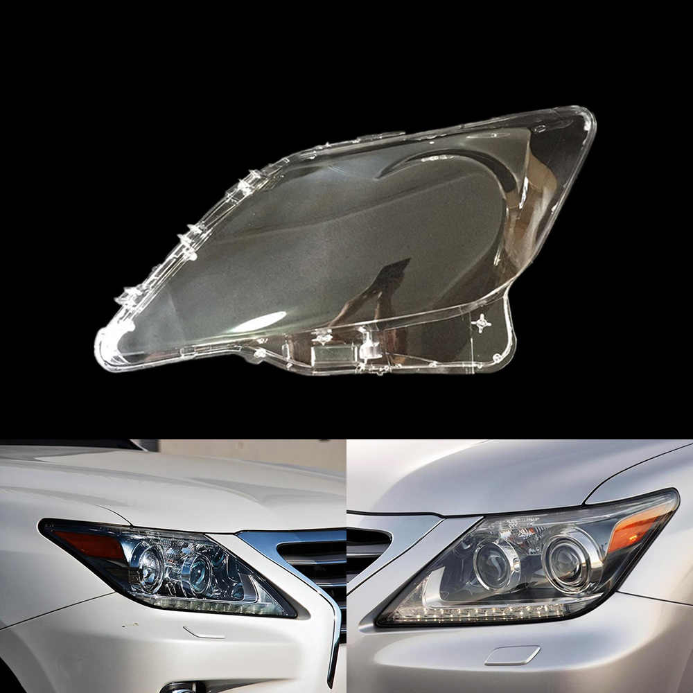For Lexus LX570 2007 2008 2009 2010 2011 2012 2013 Car Headlight Headlamp Clear Lens Auto Shell Cover