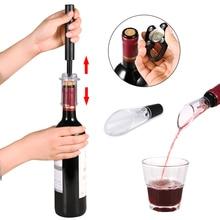 Ciśnienie powietrza otwieracz do butelek wina pompa powietrza próżnia czerwony korek do wina korek Out narzędzie szpilka ze stali nierdzewnej kuchnia Bar kapsli do piwa otwarcie