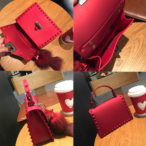 Image 5 - Rivets Women Handbags Candy Color Jelly Women Messenger Bags Luxury Designer PVC Womens Shoulder Bags Females Handbag 2020 New