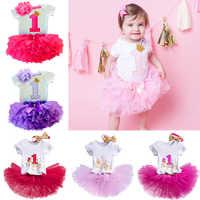 Ropa de algodón para niñas pequeñas, vestido de 1 año de cumpleaños, vestidos de fiesta para niñas pequeñas, trajes de bautismo, conjuntos de tutú con diadema