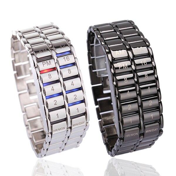 Men's Binary LED Digital Quartz Wrist Watch Father's Day Fashion Creative Gift B99