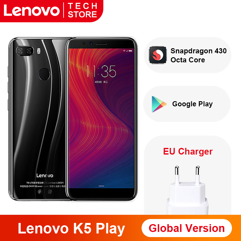 Global Version Lenovo K5 Play 3GB 32GB Snapdragon Octa Core Smartphone Fingerprint 5.7'' Inch Rear Camera 13MP 2MP