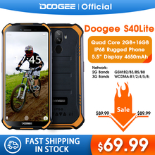 DOOGEE S40 Lite IP68 Quad Core 2GB 16GB Android 9.0 Rugged Phone Mobile