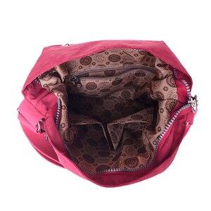 Image 5 - Нейлоновый женский рюкзак, натуральная школьная сумка для подростков, повседневная женская сумка через плечо в стиле преппи, рюкзак для путешествий