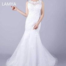 LAMYA вышитое кружевное свадебное платье русалки элегантные свадебные платья размера плюс свадебные платья под заказ Vestidos de Novia