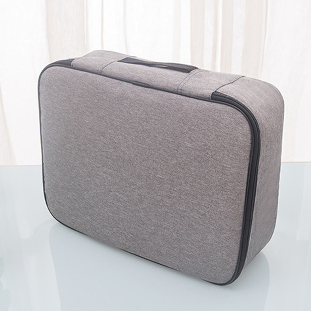With Lock File Organizer Zipper Handle Travel Oxford Cloth Holder Large Capacity Document Storage Bag Portable Home Credentials