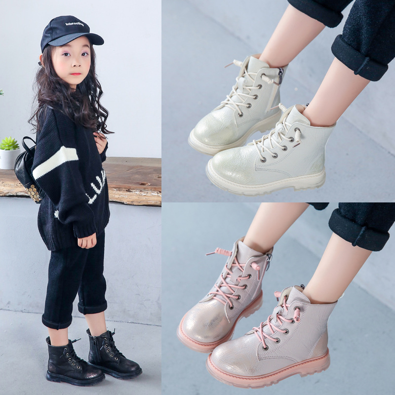 2020 Autumn&Winter Boys And Girls Martin Boots Baby Boys PU Leather Boots Child Boys Martin Fashion Shoes Ankle Snow Boots