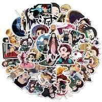 25 Pcs Giapponese Anime Demone Slayer: Kimetsu No Yaiba Autoadesivi Del Pvc Graffiti Adesivi Valigia Chitarra per I Giocattoli Dei Bambini