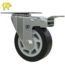 4-inch Double Axle Tonghua Belt Brake Caster Universal Wheel Cart Mute Durable hot 4 inch caster wheel manufacturer 100mm medium duty nylon caster brake