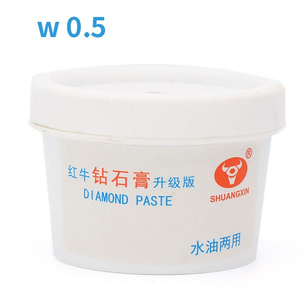 60g Portable Effective Jade Burnisher Mirror Diamond Grinding Abrasive Water Oil Dual Used Metal DIY Buffing Polishing Paste