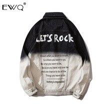 EWQ/2020 Frühling Flut Männlichen Kleidung der Schrittweise Farben Arbeit Kleidung Jacke Männlichen Lose Allgleiches Sweatware Hüfte Hop Denim mantel 9Y348