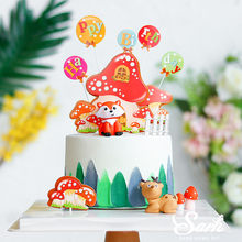 Fox Deer Mushrooms Bear Owl Cake Topper for Birthday Party Decoration Baby Shower Kid Dessert Baking Supplies Wedding Love Gifts(China)