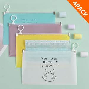 4pcs Fashion Mask Cover Bag Portable Facemask Holder Face Masks Storage Case Save Mask Boxes Caja Para Guardar Mascarillas #M3