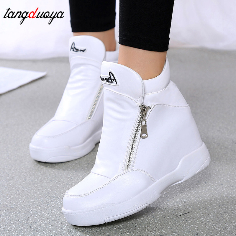 Platform Sneakers Shoes White Black Casual Shoes Women Sneakers Ladies Platform Sneakers Heels Wedge Shoes Zapatillas Mujer 2020