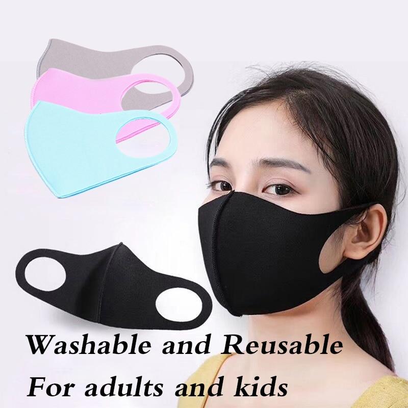 3pcs/lot Child Adult Mouth Mask PM2.5 Anti-dust Mask Anti-fog Respirator Breathing Valve Washable Mask Cotton Healthy Mouth Mask
