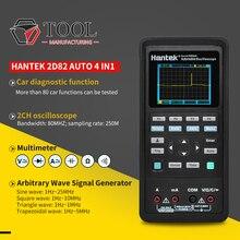Handheld Oscilloscoop Hantek 2D82 Draagbare 4 In 1 Digitale Detector 80Mhz 2D82AUTO Signaal Bron Automotive Diagnostic 250msa/S
