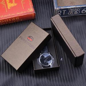 Image 5 - Forsining reloj mecánico minimalista para hombre, esfera negra delgada, automático, informal, de cuero genuino, de pulsera, masculino