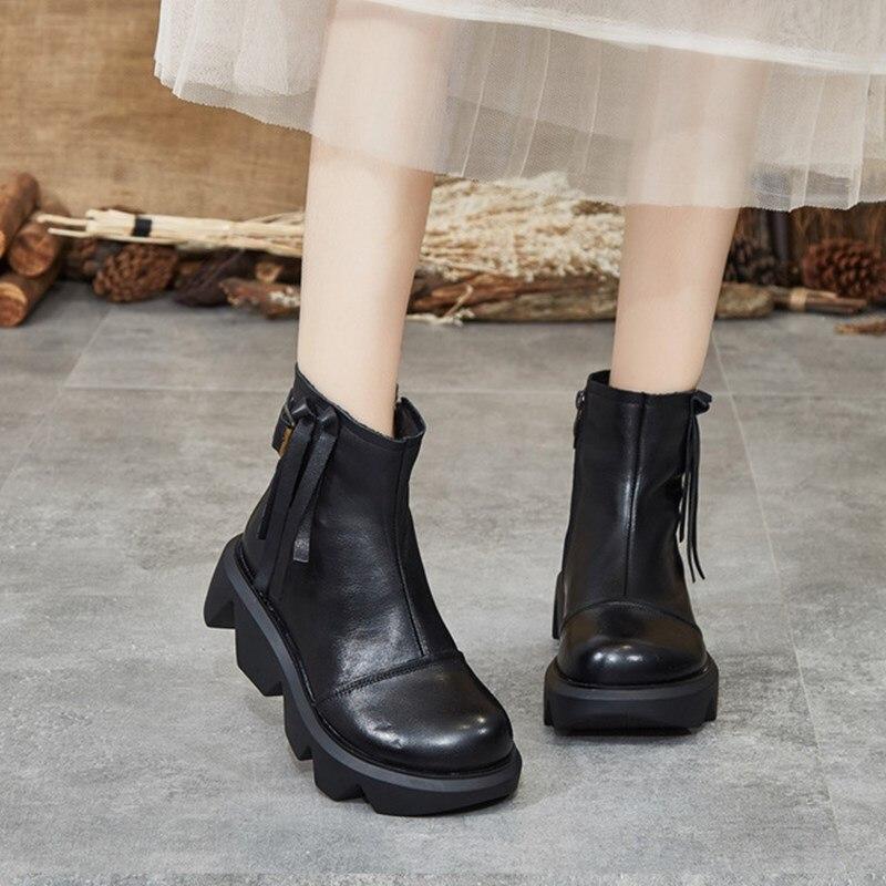 women boots 2019 autumn winter new retro short boots women casual wild thick bottom Martin boots comfortable women boots