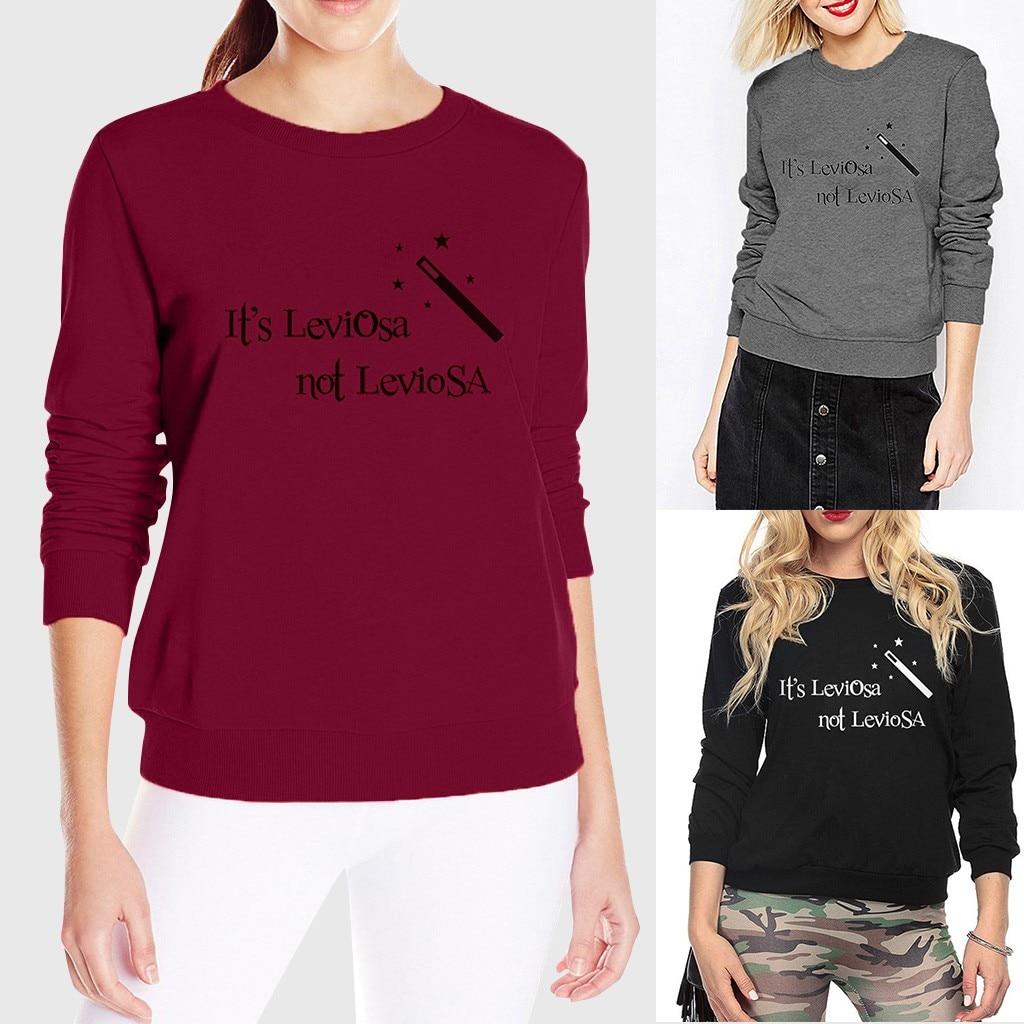 Women Casual Letter Print Solid Full Sleeve O Neck Pullover Loose Street Tops sweatshirt hoodies Women  толстовка