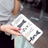 2019 Korean style Fashion New Style Multi functional Cute Wallet Women's PU Leather Long Clutch Simple Zipper Wallet